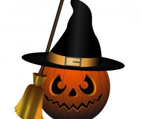 Halloween pumpkin head vector illustration 06