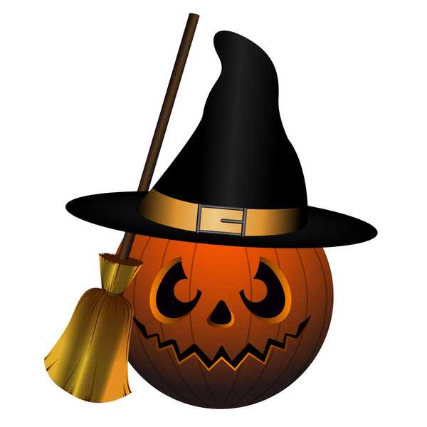 Halloween pumpkin head vector illustration 06