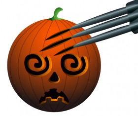 Halloween pumpkin head vector illustration 07