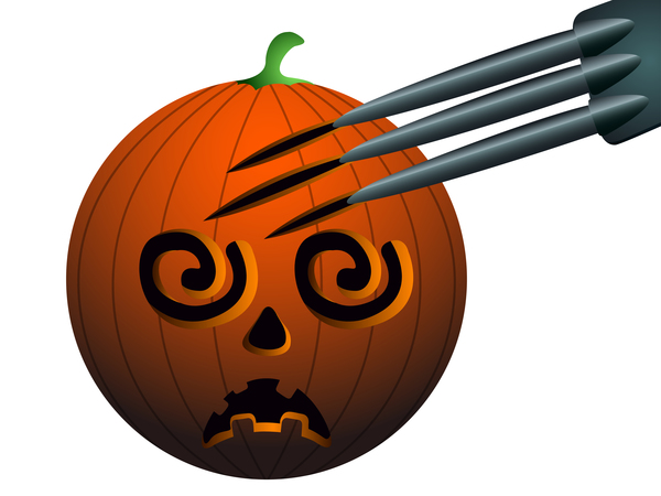 Halloween pumpkin head vector illustration 07
