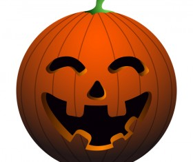 Halloween pumpkin head vector illustration 08