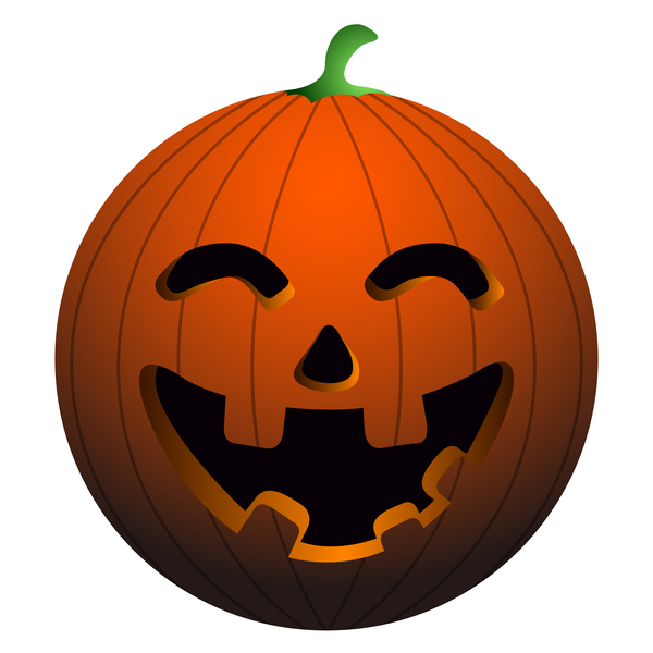 Halloween pumpkin head vector illustration 08