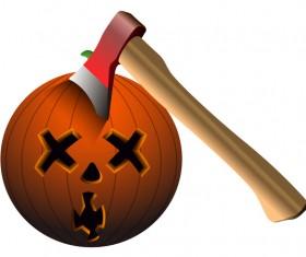 Halloween pumpkin head vector illustration 09
