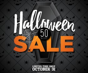 Halloween sale background black vector 01