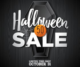 Halloween sale background black vector 02