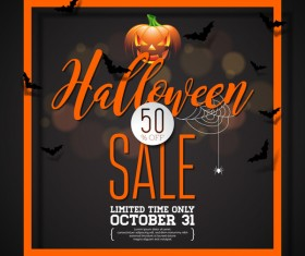 Halloween sale background black vector 03