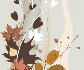 Hand drawn elegant autumn background vector