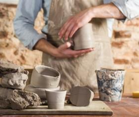 Handmade ceramic production Stock Photo 06