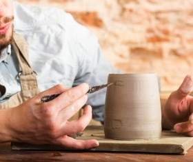 Handmade ceramic production Stock Photo 08
