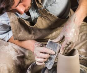 Handmade ceramic production Stock Photo 09