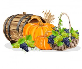 Harvesting still life vector illustration 02