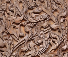 Interior classical wood carvings Stock Photo 04
