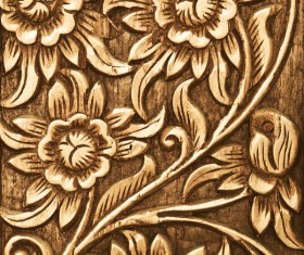 Interior classical wood carvings Stock Photo 05