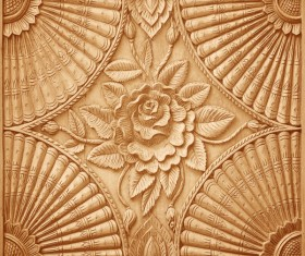 Interior classical wood carvings Stock Photo 09