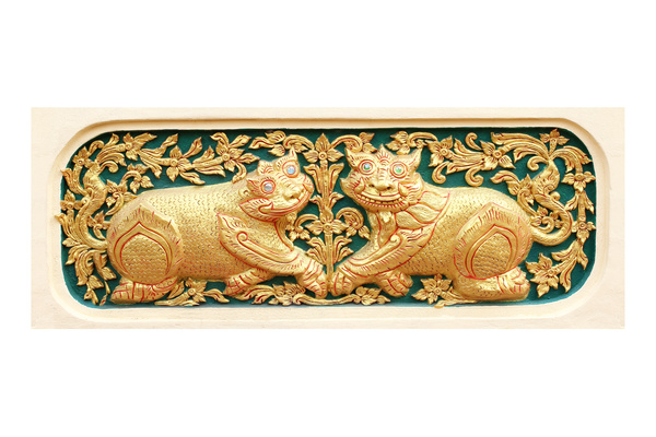 Interior classical wood carvings Stock Photo 13