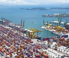 International Freight Harbor Stock Photo