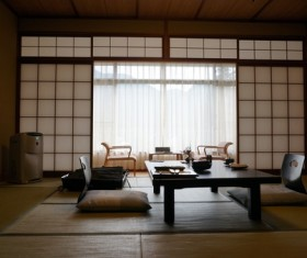 Japanese style interior decoration Stock Photo
