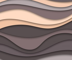 Layered wavy abstract vector template 03