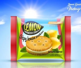 Lemon cookies package vector amterial 01