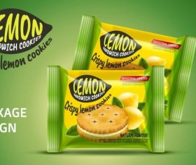 Lemon cookies package vector amterial 02
