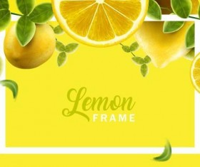 Lemon with white frame vector