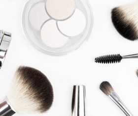 Makeup tools for women Stock Photo