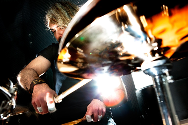 Man playing drums Stock Photo 01