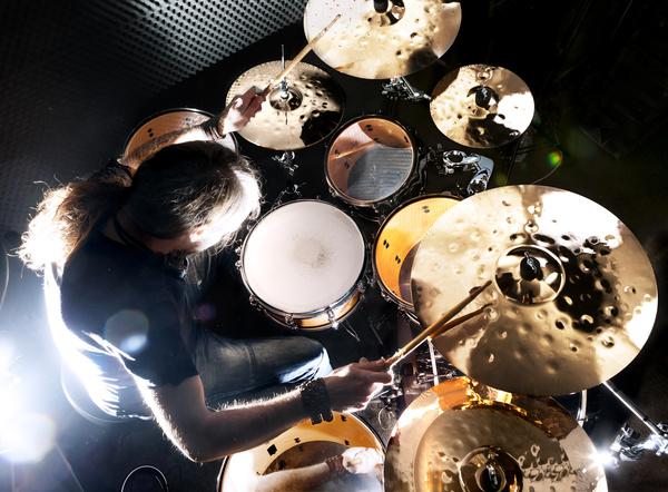Man playing drums Stock Photo 02