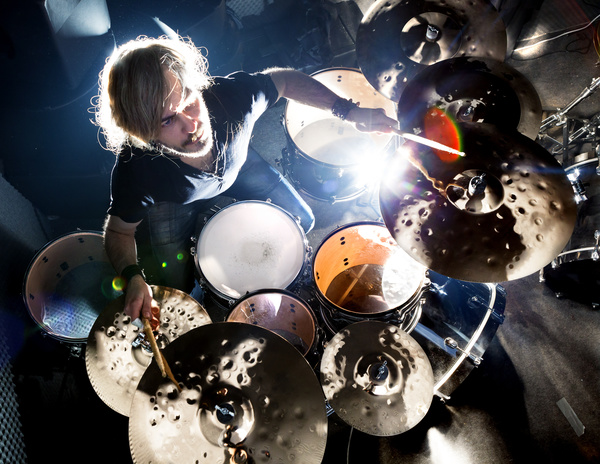 Man playing drums Stock Photo 03