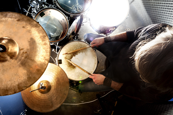 Man playing drums Stock Photo 04