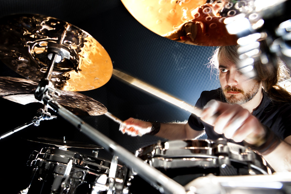 Man playing drums Stock Photo 06
