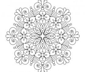 Mandala decorative pattern drawn vector material 05