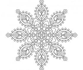 Mandala decorative pattern drawn vector material 10