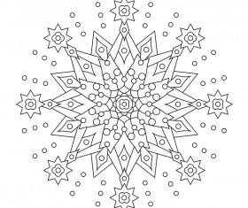 Mandala decorative pattern drawn vector material 12
