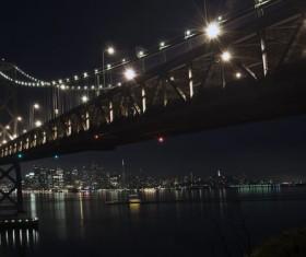 Night city lights Stock Photo 06