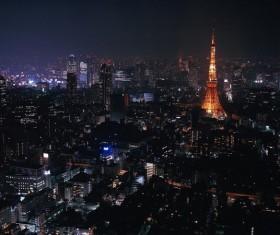 Night city lights Stock Photo 11