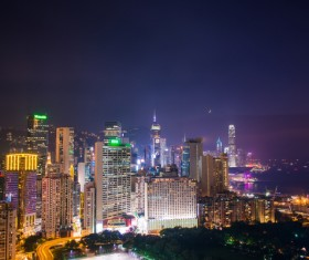 Night city lights Stock Photo 24