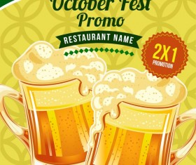 October fest poster vector template