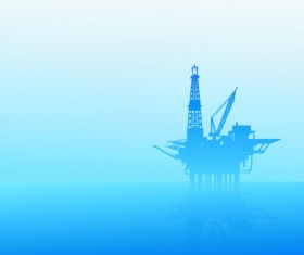 Oil exploration on sea vector