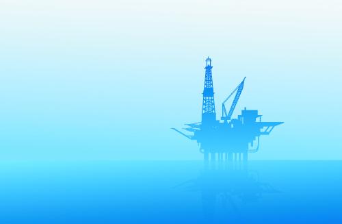 Oil exploration on sea vector
