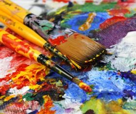 Oil paints Stock Photo 01