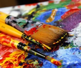 Oil paints Stock Photo 02