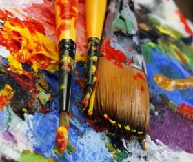 Oil paints Stock Photo 03