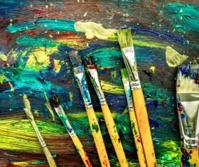 Oil paints Stock Photo 11
