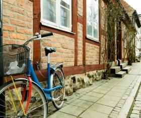Old bikes Stock Photo 08