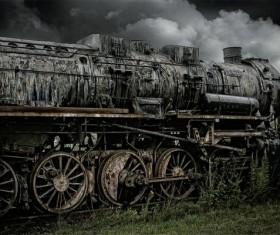 Old steam train Stock Photo 01