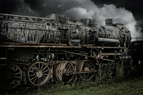 Old steam train Stock Photo 01