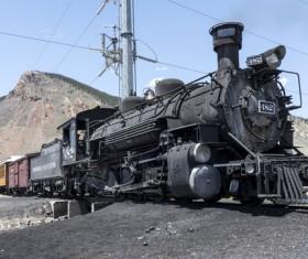 Old steam train Stock Photo 02