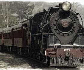Old steam train Stock Photo 03