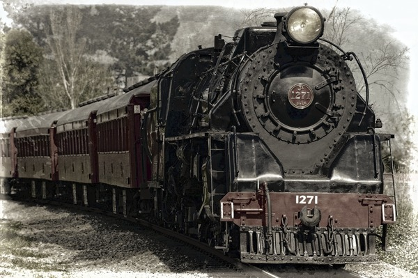 Old steam train Stock Photo 03